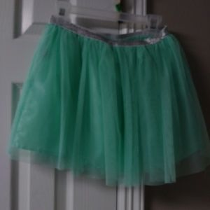 Faded Glory Teal tulle girl skirt Size M (7-8)